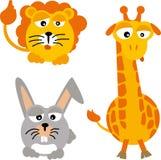 Salvajes de los animales (vector) Fotografía de archivo libre de regalías