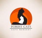Salvamento animal, veterinário, loja Pets o logotipo ilustração stock