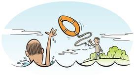 Salvamento da água ilustração royalty free