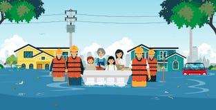 Salvamento da inundação