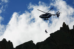 Salvamento da montanha Imagens de Stock Royalty Free