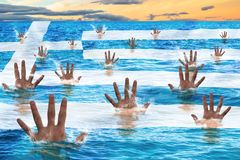 Salvamento de Grécia Imagem de Stock
