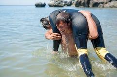 Salvamento do mergulhador Imagem de Stock