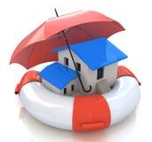 Salvamento dos bens imobiliários Fotos de Stock Royalty Free