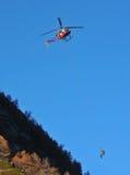 Salvamento por helicóptero Fotos de Stock Royalty Free