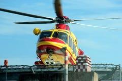 Salvamento por helicóptero Pegasus do italiano 118 Foto de Stock