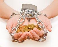 Salvando ogni penny - CONCORSO Immagini Stock