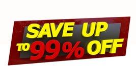 Salvar acima Imagens de Stock Royalty Free