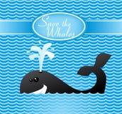 Salvar as baleias Imagens de Stock Royalty Free