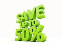 Salvar até 50% Imagem de Stock Royalty Free