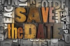 Salvar a data fotografia de stock royalty free