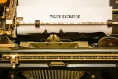 SALVAR A DATA - escrita na máquina de escrever velha foto de stock royalty free
