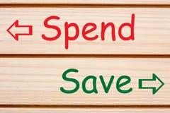 Salvar gastam o conceito imagens de stock royalty free