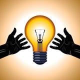 Salvar a ideia da energia Imagem de Stock