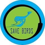 Salvar a IMAGEM redonda do ícone do perfil dos pássaros ilustração royalty free