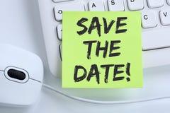 Salvar a informação mo do conceito do negócio da mensagem do convite da data imagens de stock royalty free