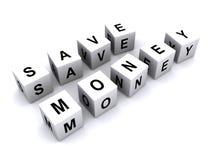 Salvar a mensagem do dinheiro foto de stock