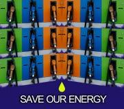 Salvar nossa energia Foto de Stock