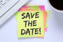 Salvar o balcão de informações do negócio da mensagem do convite da data imagem de stock royalty free