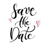 Salvar o cartão abstrato Handdrawn do casamento da data Foto de Stock Royalty Free