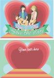 Salvar o cartão de tâmara Foto de Stock