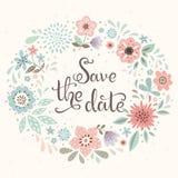 Salvar o cartão de tâmara Imagem de Stock Royalty Free