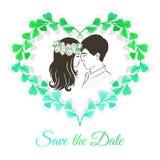 Salvar o cartão do convite da data Imagem de Stock Royalty Free