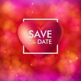 Salvar o cartão do convite da data Para o casamento, evento pessoal do feriado ilustração do vetor