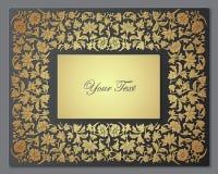 Salvar o cartão floral da data Quadro da beira ilustração stock