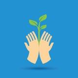 Salvar o conceito da natureza - ilustração Imagem de Stock Royalty Free