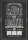 Salvar o convite da data Fotografia de Stock Royalty Free