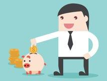 Salvar o dinheiro à realização Fotografia de Stock Royalty Free