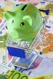 Salvar o dinheiro ao comprar Foto de Stock Royalty Free