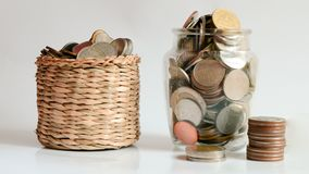 Salvar o dinheiro, salvar o conceito da economia do dinheiro Foto de Stock Royalty Free