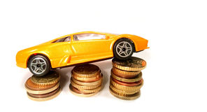 Salvar o dinheiro para o carro Imagem de Stock