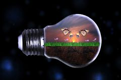 Salvar o futuro da terra da ecologia foto de stock royalty free
