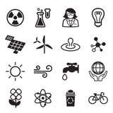 Salvar o grupo do ícone do mundo Ilustração Stock