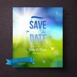Salvar o molde da data para um casamento da mola Imagens de Stock