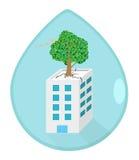 Salvar o mundo e salvar o conceito da planta Imagens de Stock
