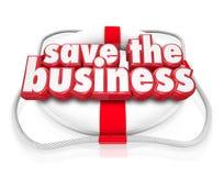 Salvar o salvamento do negócio 3d Palavras Vida Conservante Empresa Fotos de Stock