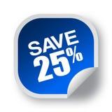 Salvar a oferta 25 ilustração royalty free