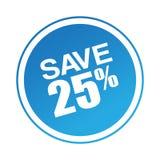 Salvar a oferta 25 ilustração stock