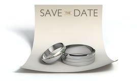 Salvar os anéis da data e note-os Foto de Stock