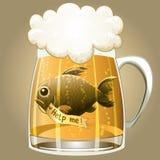 Salvar os peixes Imagens de Stock Royalty Free