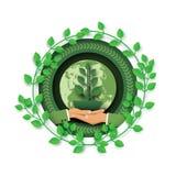 Salvar a terra e o conceito verde do ambiente ilustração royalty free