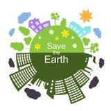 Salvar a terra, ilustração do vetor Fotos de Stock Royalty Free