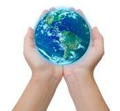 Salvare il concetto della terra Fotografia Stock