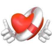Salvare il cuore con lifebuoy Fotografia Stock Libera da Diritti