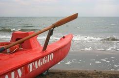 Salvataggio -为抢救准备 免版税库存照片