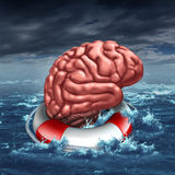 Salvataggio del vostro cervello Immagini Stock Libere da Diritti
